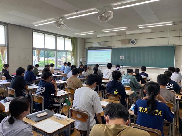 【開催報告】長野県伊那北高校にて、ワークショップ・パネルディスカッションを実施しました